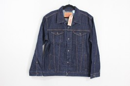 New Levis Mens XL Casual Outdoor Full Button Denim Jean Jacket Dark Wash... - $78.16