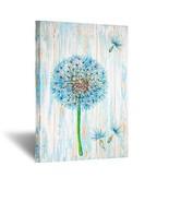 Kreative Arts Rustic Canvas Prints Wall Art Blue Dandelion Artwork on Vi... - $45.52