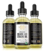 Certified Organic Beard Oil 2oz | For Softer, Smoother Facial Hair Growth | Leav image 5