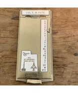 Vintage Bates List Finder Model A Air Force Colonel Hickam AFB 1966 OOAM... - $49.49