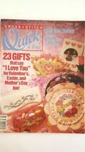 Cross Stitch: Quick & Easy Cross Stitch Magazine Feb / March 1991 - $2.94