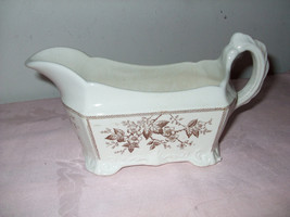 "Vintage Johnson Bros. Gravy Boat--""Sylvan Brown"" - $40.00"