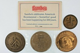 4 Bronze Commem Medals LA Transport San Diego S&L Buffalo Bill Sambo - $49.50