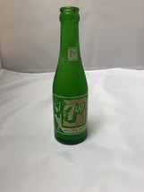 Vintage Green Glass ACL 7UP Swimsuit Lady Soda Bottle Fort Smith Coco Co... - $10.89