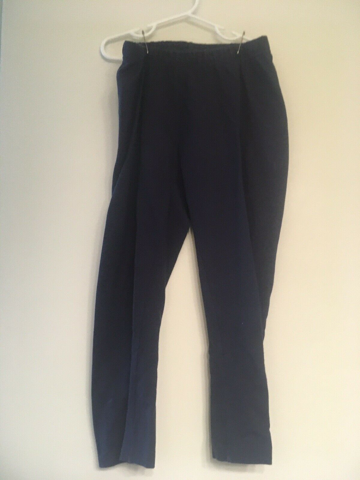 Primary image for Hanna Andersson girls capri leggings size 160 (14) Dark Navy Blue Cropped Cotton