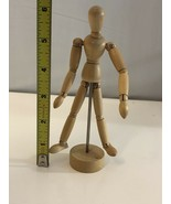 Jointed Wood Poseable Man Mannequin Artist's Figure - $9.50
