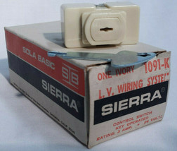 Sierra Electric 1091-K Low Voltage Ivory Key Operated Control Switch 3 Amp 24 V - $20.78