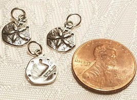 Sand dollar Sterling Silver charm 925 Sanddollar image 2