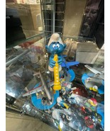 Smurfs Flautist Original 20048 Flute Music SCHLEICH Vintage Smurf Figure... - $8.86