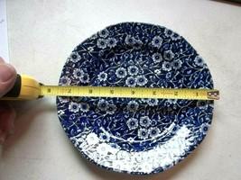 STAFFORDSHIRE CALICO BLUE ROYAL CROWNFORD VINTAGE SALAD BREAD DESSERT PL... - $23.12