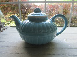 HALL VICTORIAN MURPHY TEAPOT BLUE 6 CUP MADE IN USA 1940'S - $26.68