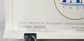 "Fantasia 50th Anniversary Double Sided Movie Poster 41""x27"" Original Rolled Ship image 4"