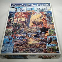 Friends of the Forest 1000 Piece Jigsaw Puzzle White Mountain 2005 Complete - $21.95