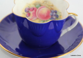 J.A. Bailey Signed Tea Cup and Saucer Dainty Shape Made by Crown Staffor... - $29.65