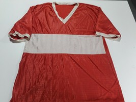 rare soccer jersey  REd and white - Argentina with 3  90 years  - $28.71