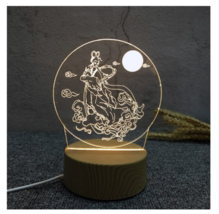 3D LED Lamp Creative Wood grain Night Lights Novelty Illusion Night Illusion 11 - $12.40