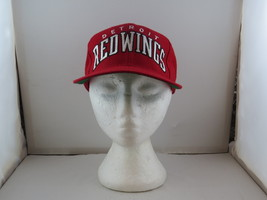 Detroit Red Wings Hat (VTG) - Wool Script Front by Starter - Adult Snapback - $75.00