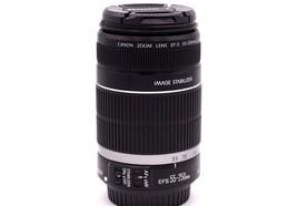 Canon Zoomobjektiv EF-S 55-250mm 1:4-5.6 IS Bild Stabilisator Linse - $199.97