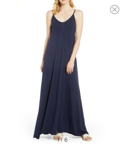 LOVEAPPELLA, Knit Maxi Dress, Small, Midnight Blue
