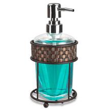 Home Basics Weave Pattern Metal & Acrylic Bathroom Soap Dispenser - $13.29