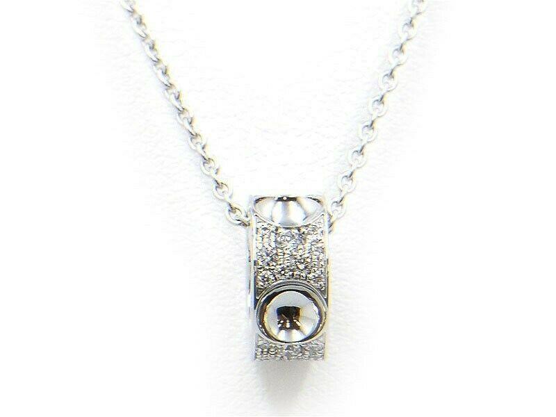 Authentic Louis Vuitton Pendentif Amplant Diamond Necklace Q93127 K18WG Used - $4,643.38