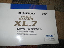 2004 Suzuki Grand Vitara XL-7 XL7 Factory Owners Manual Oem Factory Book X - $59.40