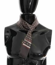 Dolce & Gabanna Mens Gray Silk Red Pattern Scarf  - $88.85