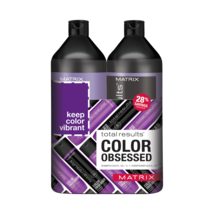 Matrix Total Results-Color Obsessed Shampoo & Conditioner Liter Duo 33.8... - $34.95
