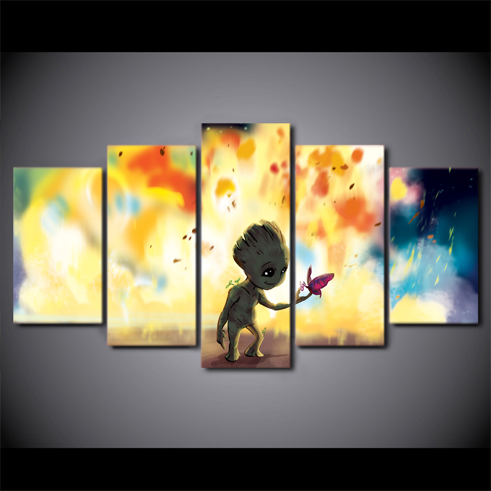 Galaxy Baby Groot HD Print Movie 5 Piece and 50 similar items
