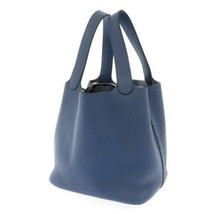 HERMES Picotin Lock MM Taurillon Clemence Blue Agate Silver HW Handbag #... - $3,028.30