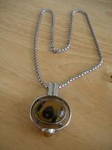 Amazing Sterling Silver Baltic Butterscotch Amber Pendant & Box Chain Ne... - $72.43