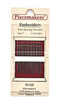 Piecemaker Embroidery Fine Sewing Needles Size 7 - $7.16