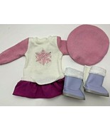 American Girl Soft as Snow boots Good to See You sweater dress outfit pi... - $19.79