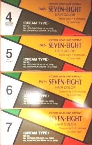 1 PCS PAON SEVEN-EIGHT #4, #5, #6, #7 CREAM TYPE HAIR COLOR - New!