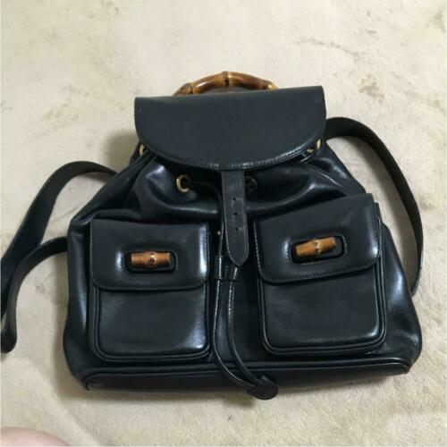 7f31f187d0069f Auth GUCCI Backpack Black Medium OLD Gucci and 50 similar items