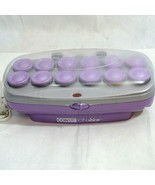 Conair Ion Shine Hot Curler Rollers and Clips Pageant Purple Gray - $19.78