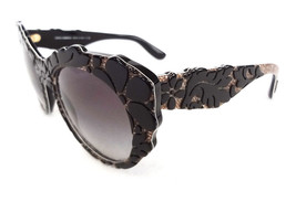 DOLCE & GABBANA Women's Sunglasses DG4267 Black Flower Texture MADE IN I... - $255.00