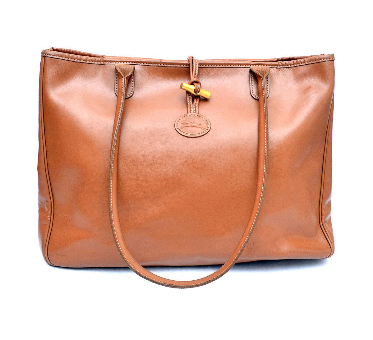 Auth Longchamp Roseau Leather Tote Shopper And 29 Similar Items Quadry Bag