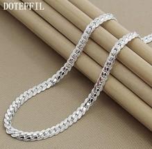 """925 Sterling Silver Full Sideways 6mm 20"""" Chain for Men or Women - $16.82"""