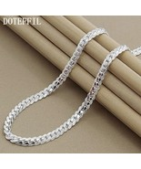"925 Sterling Silver Full Sideways 6mm 20"" Chain for Men or Women - $16.82"