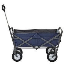 Garden Beautification Tool with Folding Design in Blue and Gray Steel Fr... - $83.99