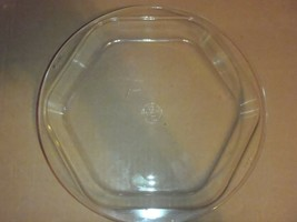 "VINTAGE  10"" PYREX HEXAGON SIX SIDED CLEAR GLASS PIE PLATE 1203 - $6.79"