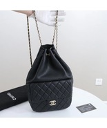 AUTHENTIC CHANEL QUILTED BLACK LAMBSKIN BACKPACK BAG GHW - $3,599.99