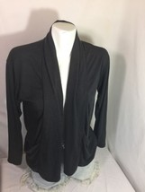 Unbranded Women Dark Gray Blouse Size M Solid Color Soft Material Bim59#40 - $14.03