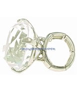 Big Bling Rock Crystal Rhinestone Ring With Stretch Band - $14.99+