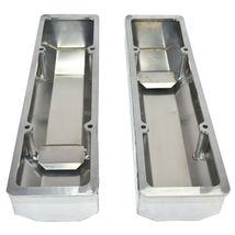 """Chevy Fabricated Aluminum Tall Valve Covers 1/4"""" Rail SBC 350 383 400 image 7"""