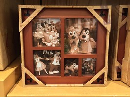 Disney Parks Wood Collage Photo Frame New In Box - $43.63
