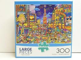 Times Square NYC 300 Large Puzzle Pcs Fun Activity Entertain Mind Adult ... - $21.77