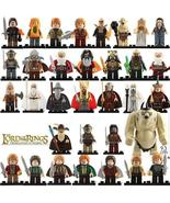33pcs The Hobbit Bilbo Gandalf The Goblin King Thranduil Thorin Azog Min... - $48.99
