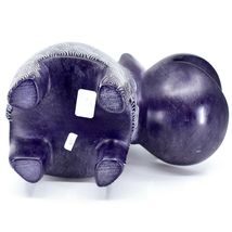 Vaneal Group Hand Carved Soapstone Large Heavy Purple Hippopotamus Hippo Bookend image 6